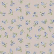Lewis & Irene Flo's Wildflowers - 5433 - Bluebells on Pale Grey - FLO10.1 - Cotton Fabric